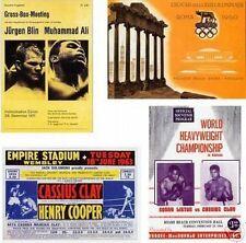 Cassius Clay Muhammad Ali programa juego de postales # 4