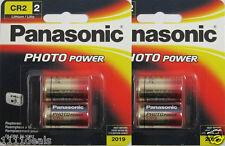 4 x Panasonic CR2 Lithium 3 Volt Photo Batteries 2x Pack Of 2 EXP 2027
