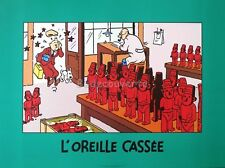 Affiche HERGE BD Tintin L Oreille Cassée 60x80 cm