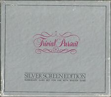 trivial pursuit silver screen edition #8 card set 1982 parker brothers