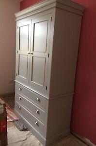 Painted 2 door 3 drawer Edwardian style wardrobe