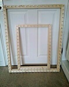 Frame/loom to make pom pom blanket with design  31.5 x 26