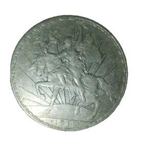 Rare Mexico 1911 Caballito Silver Uno Peso - One Dollar Coin Excellent Condition
