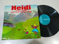 """Heidi Canta en Español Banda original de la serie RTVE - LP Vinilo 12"""" VG/G+"""