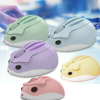 Mini Cute Hamster Mouse 2.4GHz Wireless Cordless Mice For Computer Tablet
