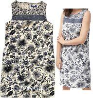 NEW! NEXT Summer Blue Floral Bird Linen Blend Tunic Shift Pocket Dress ALL SIZES