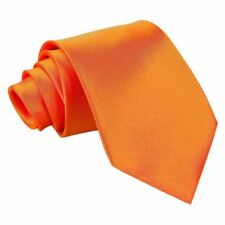 Plain Satin Extra Long Tie- burnt-orange