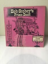 "Vintage Jazz ""BOB SCOBEY'S FRISCO BAND"" 10"" 33 RPM GOOD TIME JAZZ RECORD VINYL"