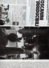 SP61 Clipping-Ritaglio 1987 Toscanini L'irriducibile