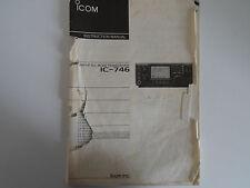 ICOM-746 (GENUINE INSTRUCTION MANUAL ONLY)...........RADIO_TRADER_IRELAND.