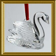 MINT WATERFORD SEVEN SWANS SWIMMING CRYSTAL TREE ORNAMENT 2000~12 DAYS CHRISTMAS