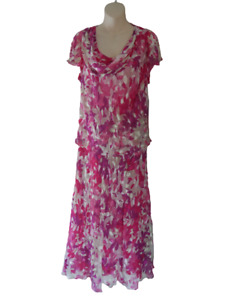 Designer Silk Dress Size 18 Country Casuals Wedding Guest Christening Cruise