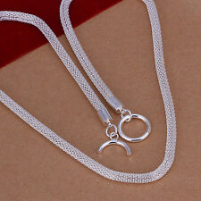 hot! wholesale Sterling solid silver fashion jewelry Chain mesh Necklace XLSN087
