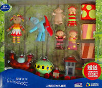 LARGE IN THE NIGHT GARDEN ACTION FIGURES DOLL & NINKY NONK TRAIN PLAY SET TOY
