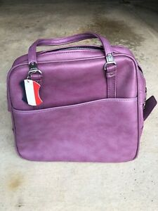 Vintage Purple American Tourister Overnight Carry On Tote Train Shoulder Bag