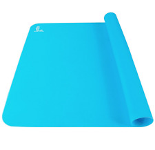 SUPER KITCHEN Food Grade Silicone Pastry Baking Mat, X-Large, Blue