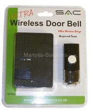 Wireless Door Bell from SAC. 200m range. Choose from 36 pre-set doorbell tones