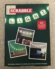 Customisable Scrabble LED Lights 60 Reusable Letter Stickers (New)