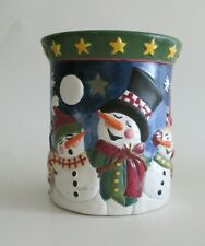 Yankee Candle Winter Singing Snowman Tart Wax Warmer Uses Tealight Candles