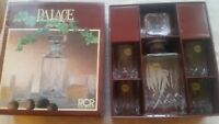 Boxed Royal Crystal Rock PALACE Whisky Set - Decanter & 4 x Glasses Lead Crystal