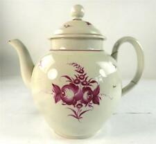 18TH CENTURY ANTIQUE BRITISH PEARLWARE TEAPOT STAFFORDSHIRE