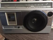 Sanyo Radio Cassette Recorder 80's Boombox System Model M2820 Tested Works!