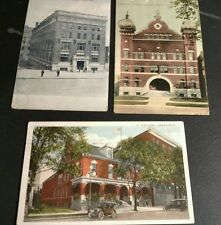 Vintage LANSING MICHIGAN Postcard LOT Masonic Temple YMCA Building Elks Home
