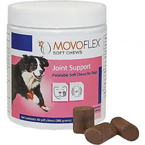 Verified ● Movoflex Joint Support for Large Dogs (80 lbs) - 60 Soft Chews