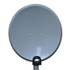 Digital 45 cm Camping Satelliten Sat Schüssel Spiegel Stahl Anthrazit