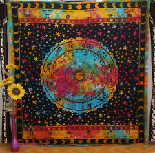 Indian Star Ethnic Tie Dye Wall Hanging Queen Tapestry Room Decorate Bedspread