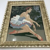 Vintage Paint By Number In Frame BALLERINA BALLET Mid Century 50's 60's