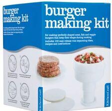 KitchenCraft Home Made Ham / Beef Burger Press Maker Free 100 Wax Discs