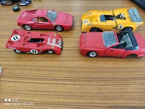 Lot de 4 voitures miniatures a restaurer