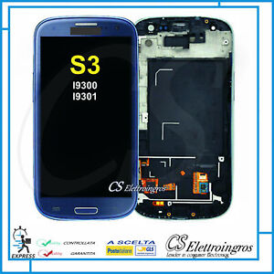 SAMSUNG GALAXY S3 I9300 S3 NEO I9301 DISPLAY LCD + TOUCH + FRAME BLU sped. pro 1