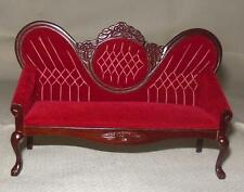 VINTAGE VICTORIAN SOFA MAHOGANY #5412 DOLLHOUSE FURNITURE MINIATURES