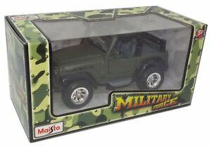 Maisto Military Force Jeep Wrangler Rubicon 1/35 Diecast
