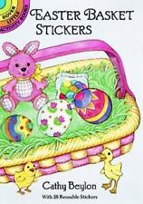 EASTER BASKET STICKERS, big basket to fill with 26 cute stickers, acid-free, fun