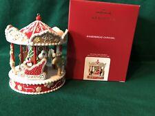 2020 Hallmark Gingerbread Carousel Ornament Rare-Signed By Artist Tammy & Matt