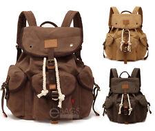 Men's Travel Canvas Tactical Backpack Laptop Sport Shoulder School Hiking Bag