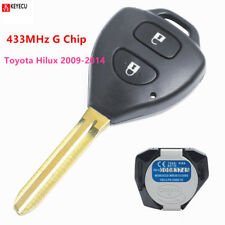 Genuine Remote Key Fob 433MHz G Chip for Toyota Hilux 2009-2014,Yaris 2011-2014