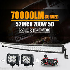 """52inch / 54"""" Curved CREE Spot Flood Combo Beam+ 4inch 18W LED Lights Bar 4WD SUV"""