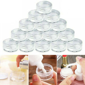 50X Clear Plastic Sample Mini Small Bottles Container Pot Jar Cosmetic Tools 5ml