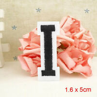 Letter A-Z Embroidered Motif Applique Iron On Patch Sew Clothing DIY UKLS