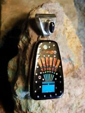 Sterling Silver Night Sky Headdress Micro Inlay Pendant Navajo Matthew Jack  New