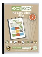 ECO-ECO A4 50% riciclato Pack 60 Forte Chiaro barra di scorrimento facile file di rapporto di copertura