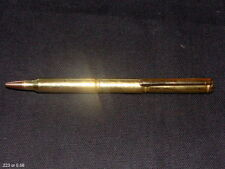 BULLET PEN .223 BRASS RIFLE CASING  BALLPOINT WITH STRAIGHT POCKET CLIP