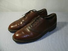 H.S. TRASK BROWN LEATHER OXFORD DRESS FORMAL SHOES / SIZE US 12 / EUR 46 MEN'S