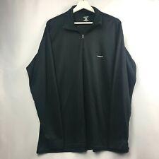 Patagonia Capilene Mens XXL Pullover Lightweight Base Layer Top Black 1/4 Zip