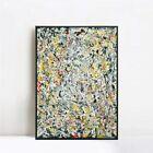 "Framed Canvas White Light by Jackson Pollock Giclee Print Wall Art Decor 28""x40"""