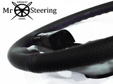 FOR VW GOLF MK3 PERFORATED LEATHER STEERING WHEEL COVER 93-98 PURPLE DOUBLE STCH
